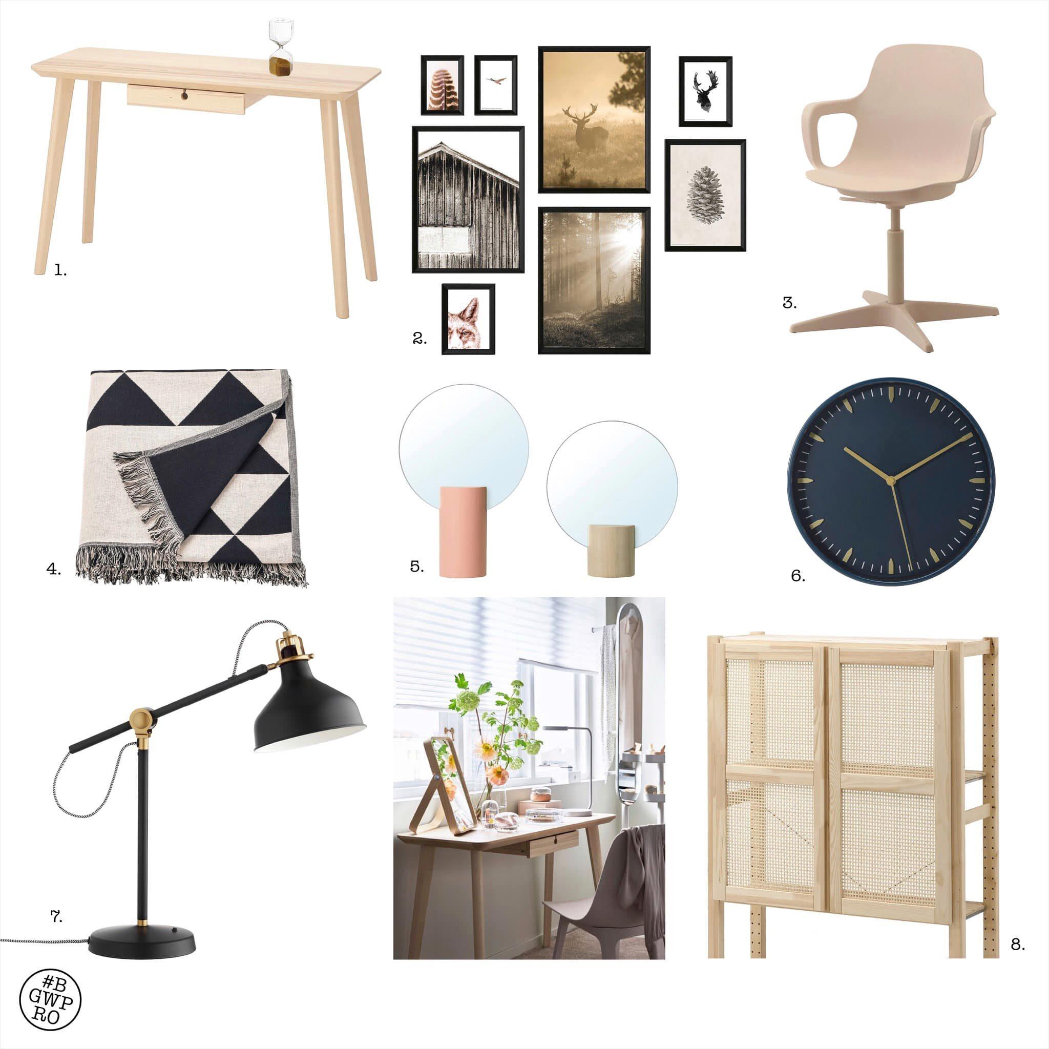 Thuiswerkplek Ikea Zeer betaalbaar compleet meubelrecept voor een werkplek in de woonkamer.