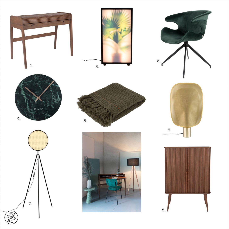 Thuiswerkplek meubelrecept voor een iets groter budget met Zuiver meubelen en styling.