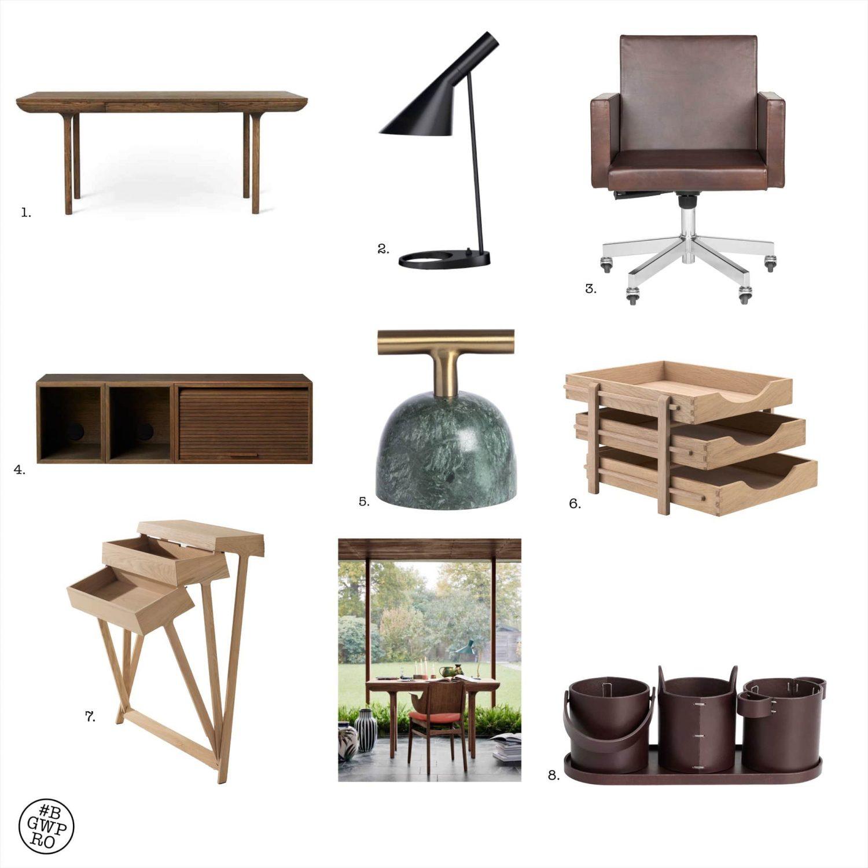 Zeer luxe thuiswerkplek voor grotere woning. Compleet meubelrecept.