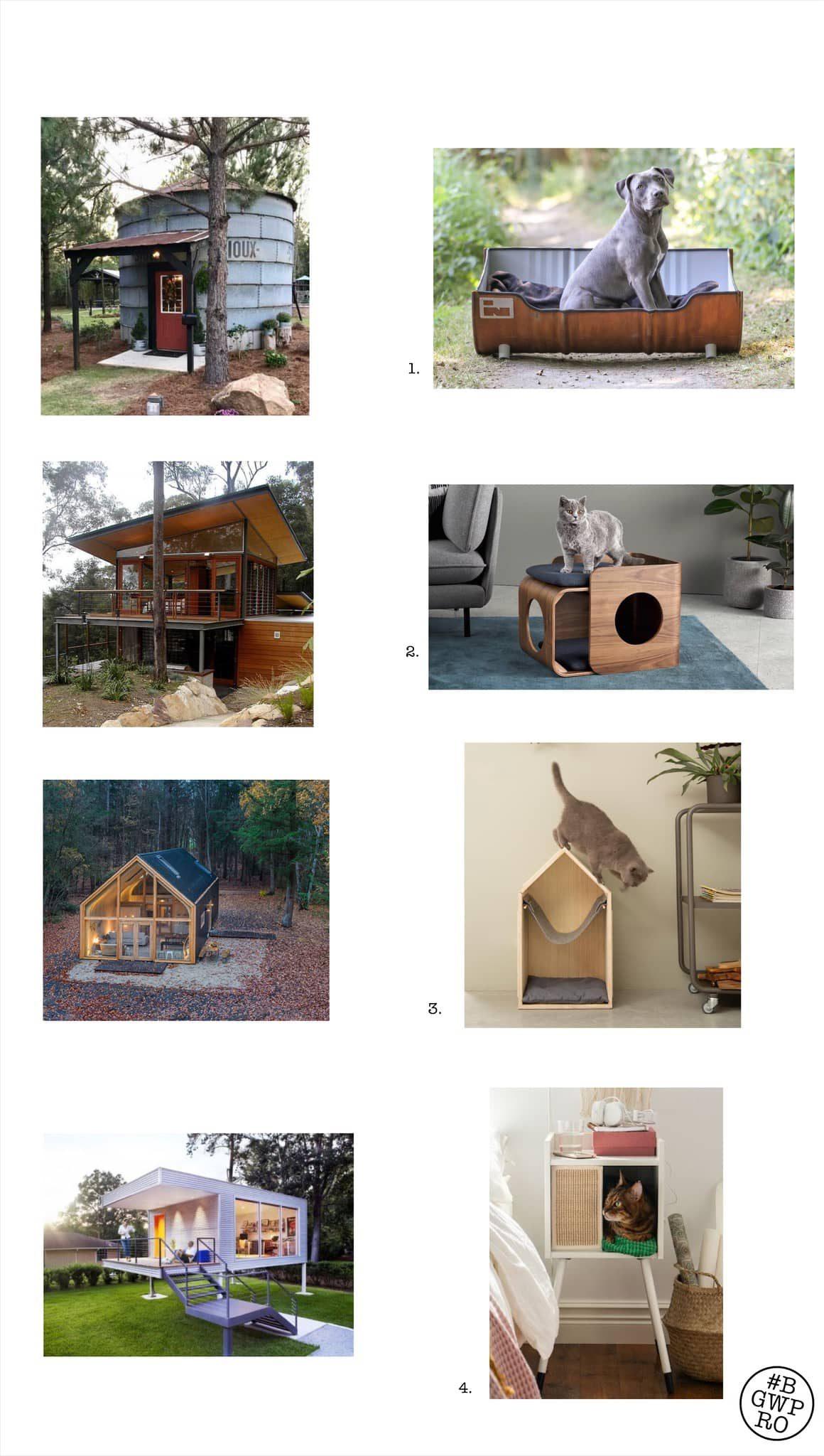 dierendesign hondenmanden en kattenmanden met geinspireerd op architectuur